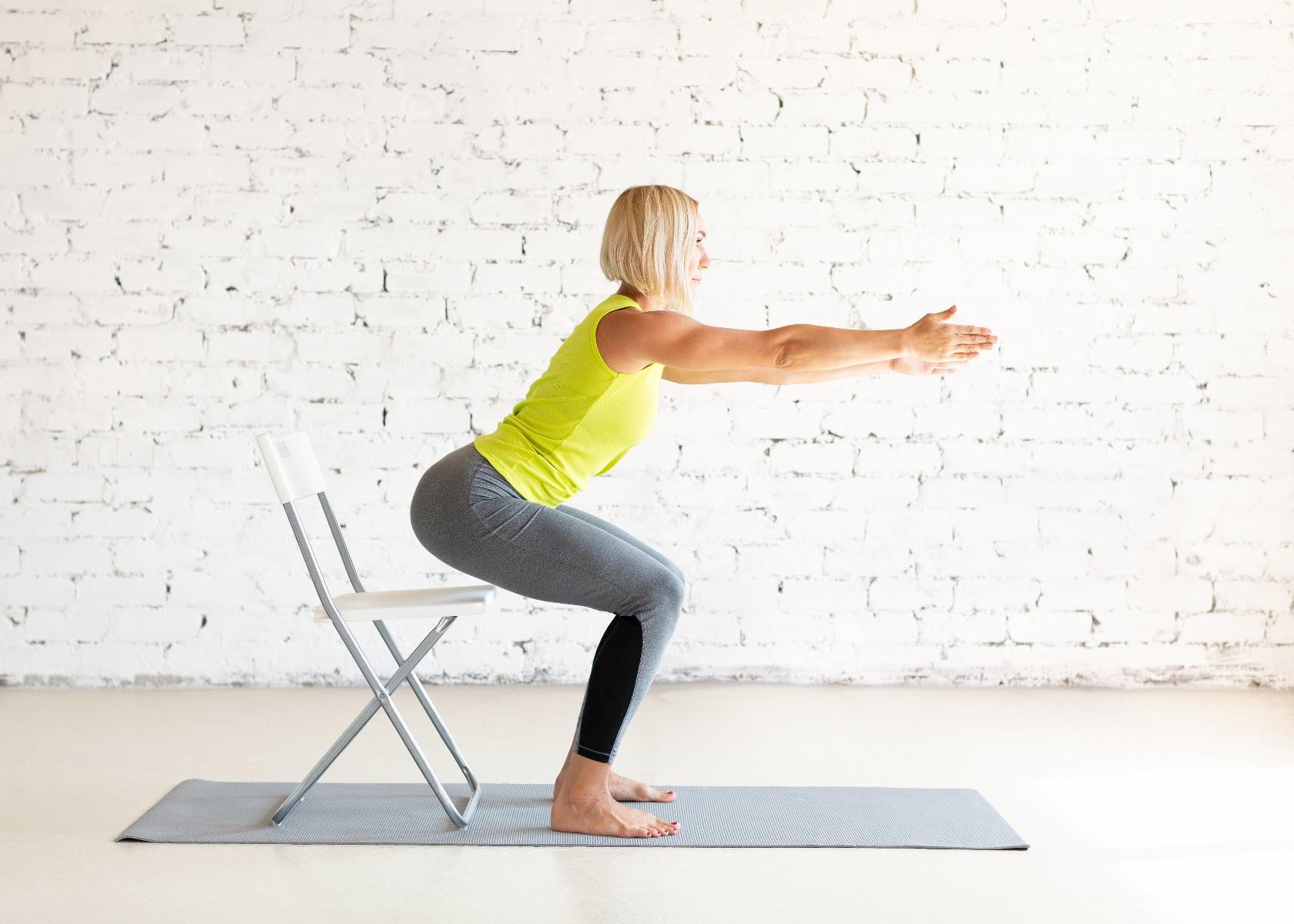 Chair Squats.