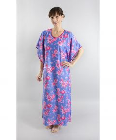 Pink and Blue Floral Kaftan