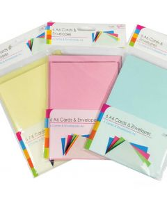 Craft A6 Cards and Envelopes - 12PK