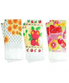 Printed Tea Towels PK6