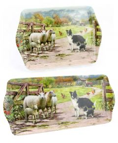 Collie & Sheep Set of 2 Trays