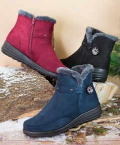 Ladies Warm Lined Ankle Boots