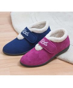 Catherine - Ladies' Touch Fastening Ankle Slippers