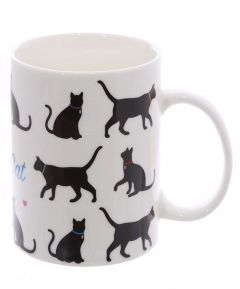 I Love My Cat Bone China Mug