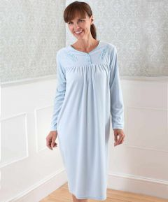 Long Sleeve Velour Nightdress