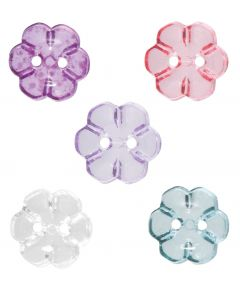 Flower Buttons - Pack of 50