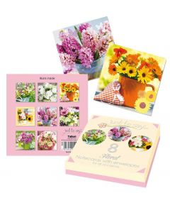 8 Floral Note Cards in Box