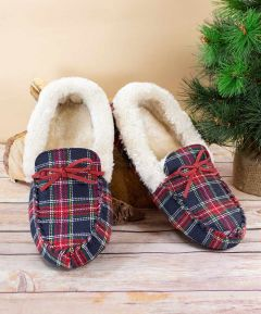 Ladies Checked Slippers