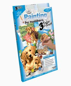 Painting by Numbers 3pk - Dogs