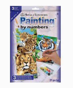 Painting by Numbers 3pk - Jungle Cats