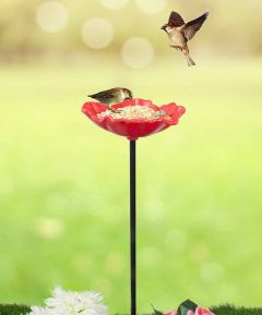 Poppy Bird Feeder - Pack of 8