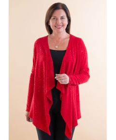 Ladies' Waterfall Sequin Cardigan