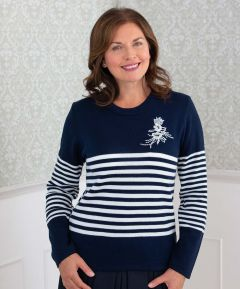 Ladies' Striped Jumper