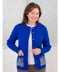 Ladies' Cardigan with Floral Pockets