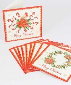Poinsettia Cards - Pack of 10