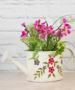 Floral Watering Can Planter