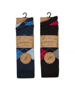 Gents Bamboo Non-Elastic Socks - 3 Pack