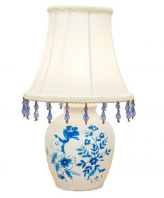 B/O Ceramic Lamp With Shade