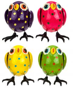 Flapping Owl on a Stake - Set of 3