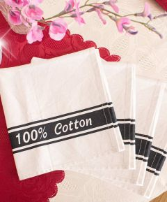 100% Cotton Glass Cloth Pack of 4