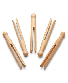 24pc Wooden Dolly Pegs