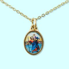 Inspirations Necklace - St Christopher