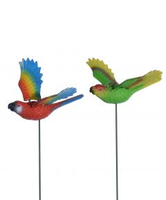 Flapping Tropical Bird on a Stake Pack of 3