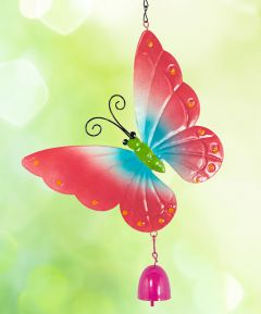 Hanging Butterfly with Bell Set of 2