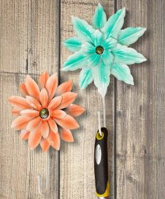 Flower Metal Hook Set of 2