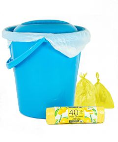 12L Bucket with Bin Liners