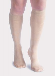 Butterfly Compression Knee Highs - 2 Pairs Nude