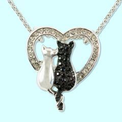 Crystal Cats Pendant