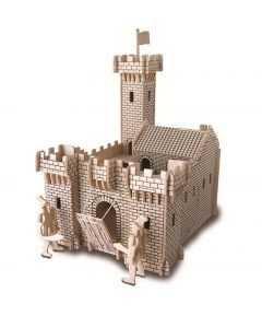 Quay DIY Woodcraft Construction Kits Knight Castle