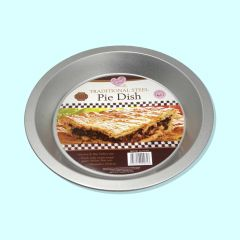 Queen of Cakes Traditional Steel Pie Dish 22cm