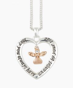 Angel Necklace - Silver Tone