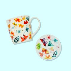 Mug & Coaster Set - Butterfly