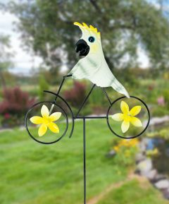 Tropical Bird on Bike Stake