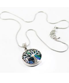 Paua Shell Tree of Life Pendant