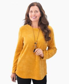 Ladies Chenille Top with Necklace