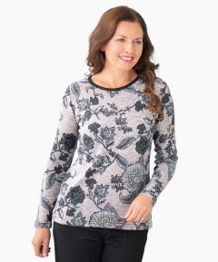 Knitted Pattern Floral Top
