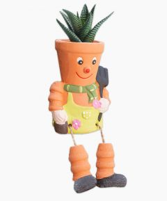 Terracotta Pot Man Planter