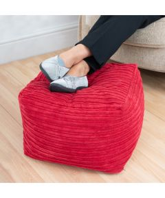 Cord Beanbag Cube - Red