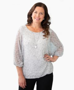 Batwing Sleeve Top One Size (Fits 8-14)