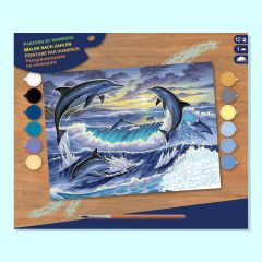 Painting By Numbers - Dolphin Surprise