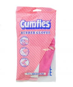Comfys Rubber Gloves Medium - 2 Pairs