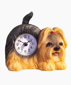 Mantel Clock Waggy Tail - Yorkshire Terrier