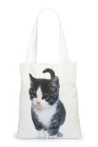Canvas Shopping Bag - Cat