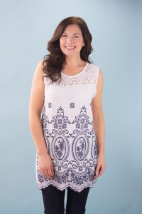 Embroidered Vest Tunic