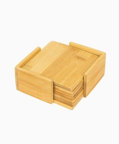 Wooden Coasters in Holder