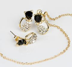 Goldtone Cat Set